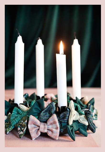ribbons advent wreath