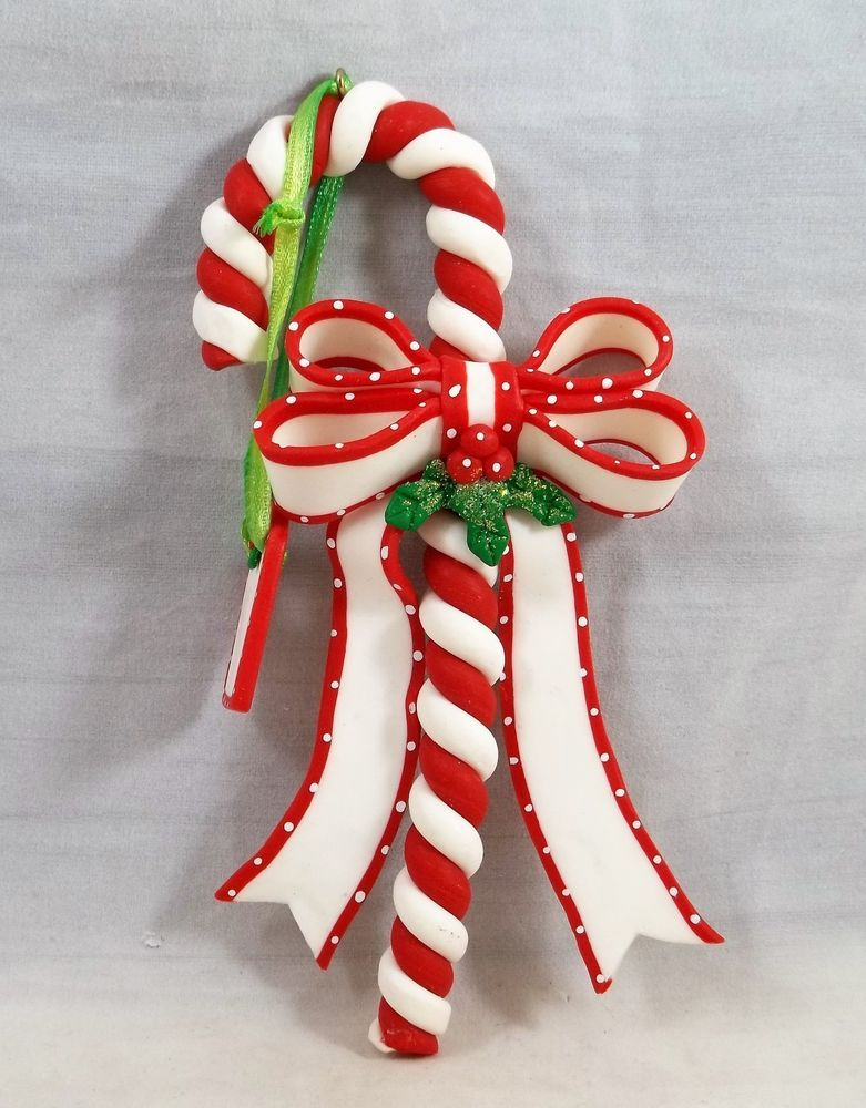 candy cane christmas ornament with name tag holiday