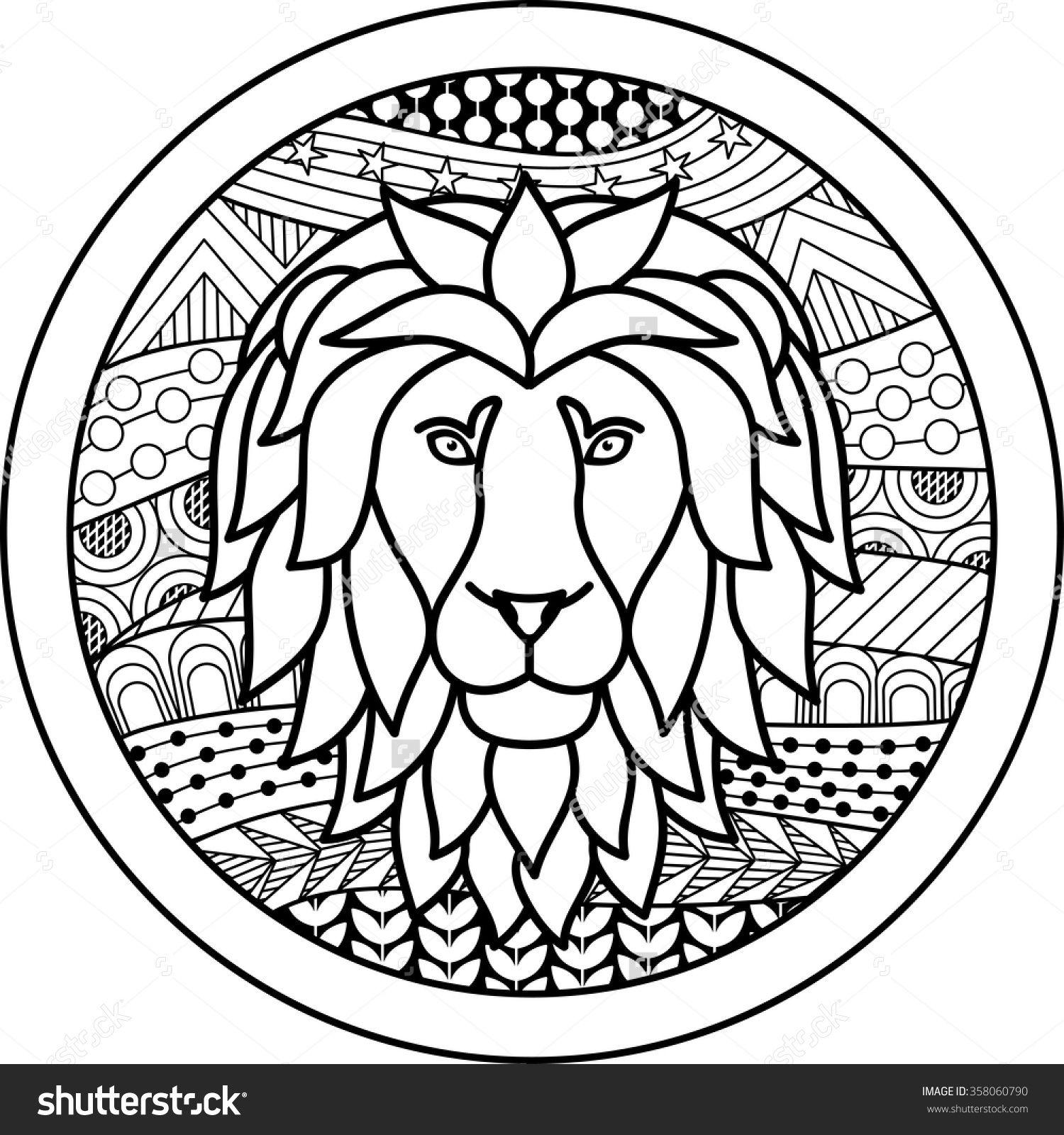 Zodiac sign Leo zentangle | Paint a New... | Pinterest | Horoskop ...