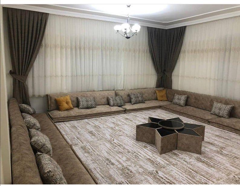gray oriental arabian seating set  etsy  living room