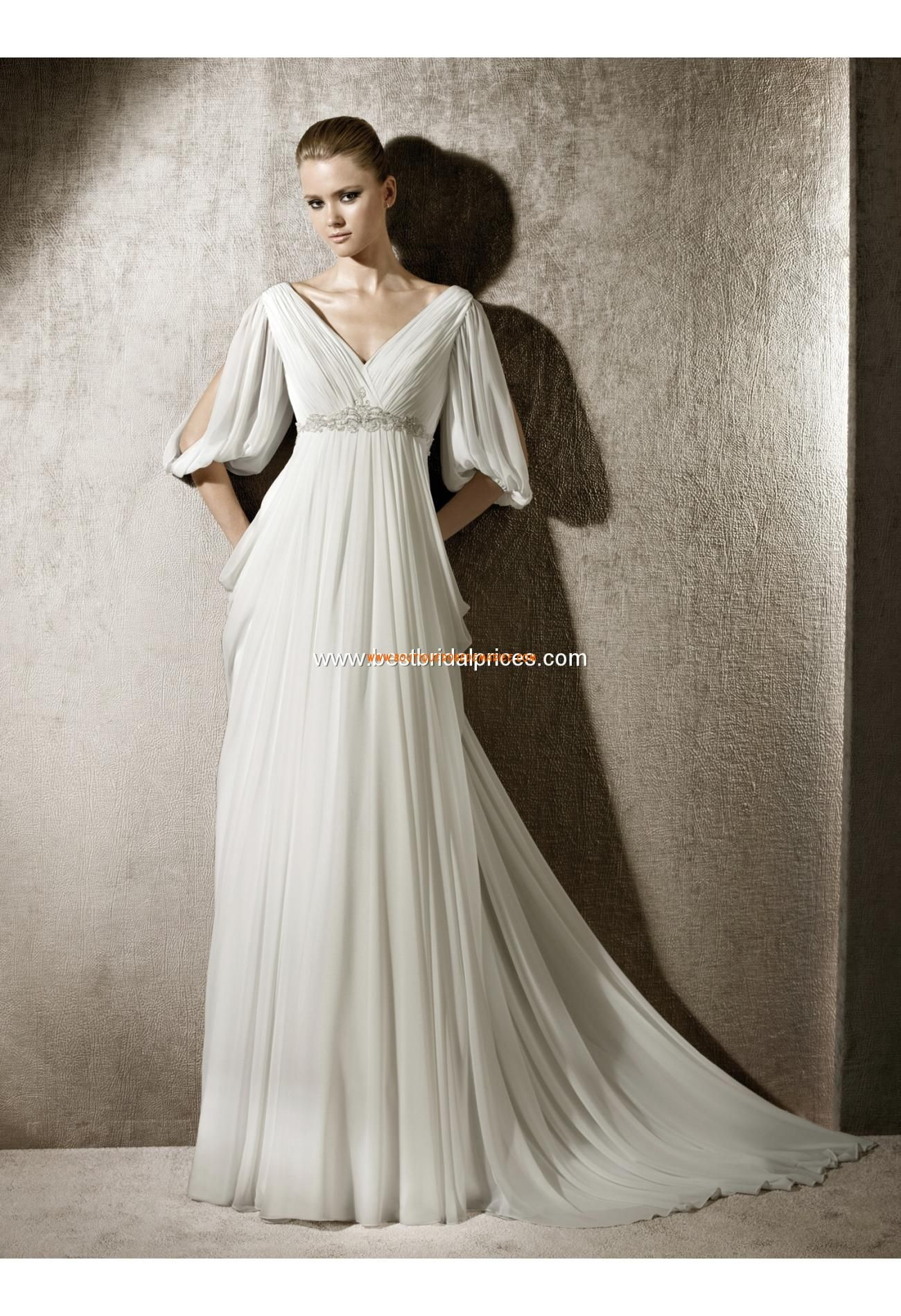 Beach wedding mother of the bride  Robe de mariée avec manches mousseline  Robe de mariée   Pinterest