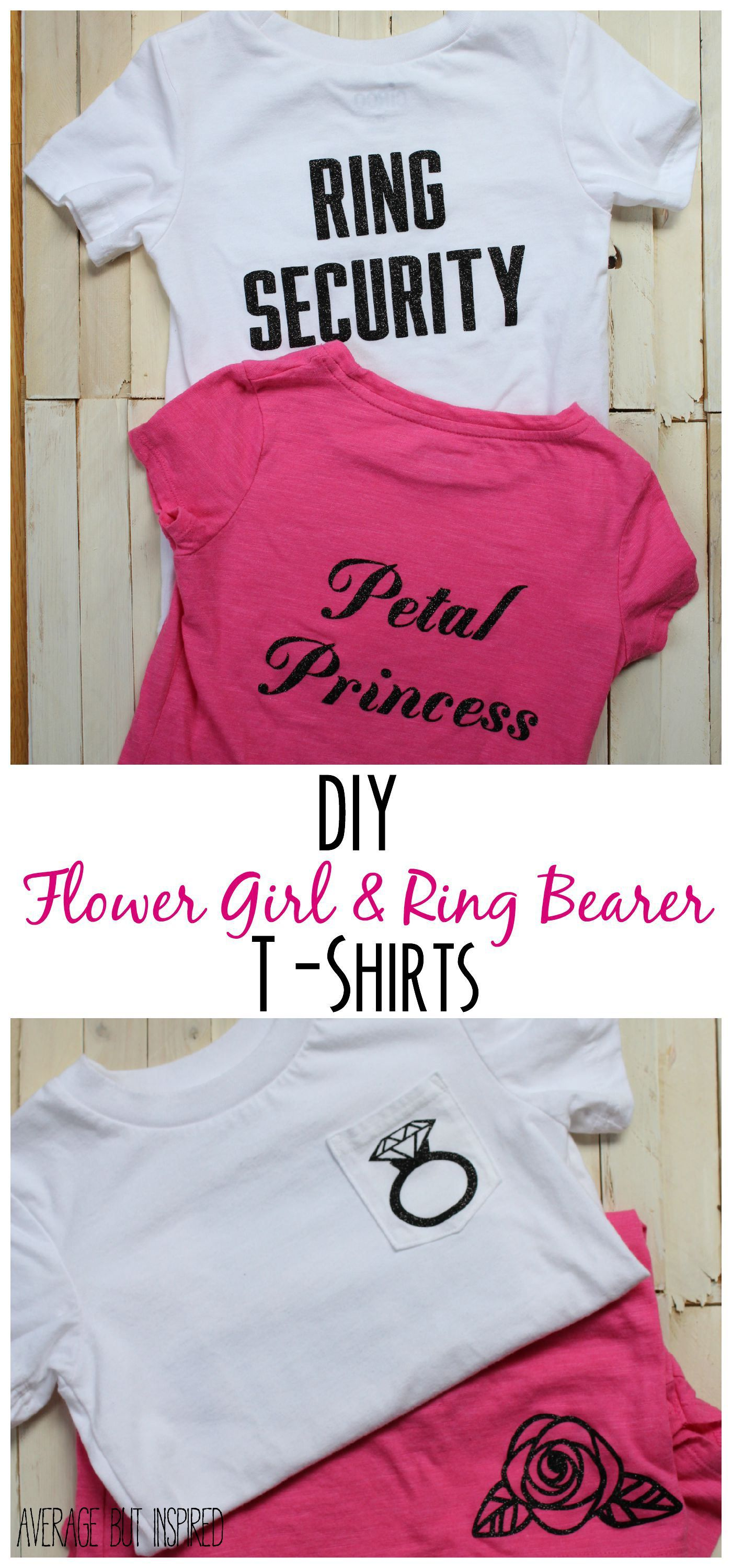DIY Flower Girl and Ring Bearer T-Shirts | Cortejo, Damitas de honor ...