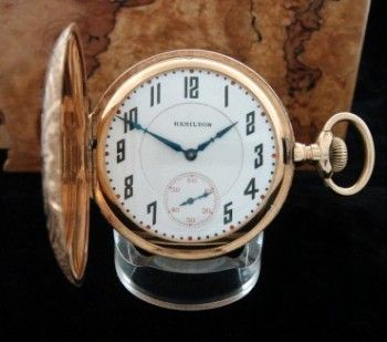Men's 1908 Hamilton 993 Hunter Case Railroad Pocket Watch | Strickland Vintage Watches