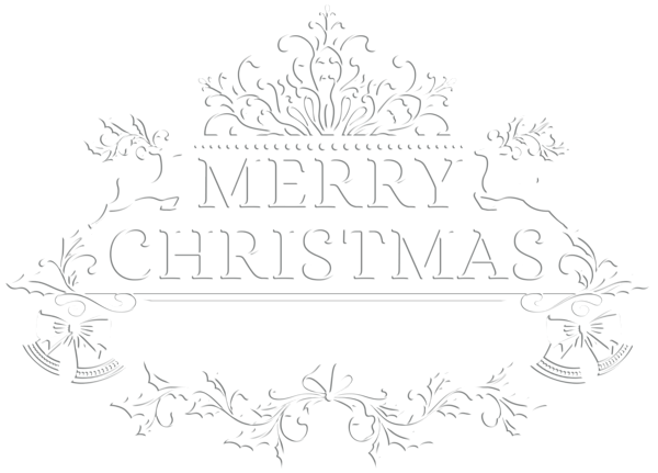 Merry Christmas White Transparent PNG Clip Art Image