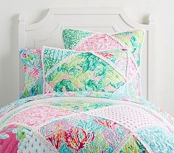Lilly Pulitzer Organic Mermaid Cove Sheet Set Twin Quilt