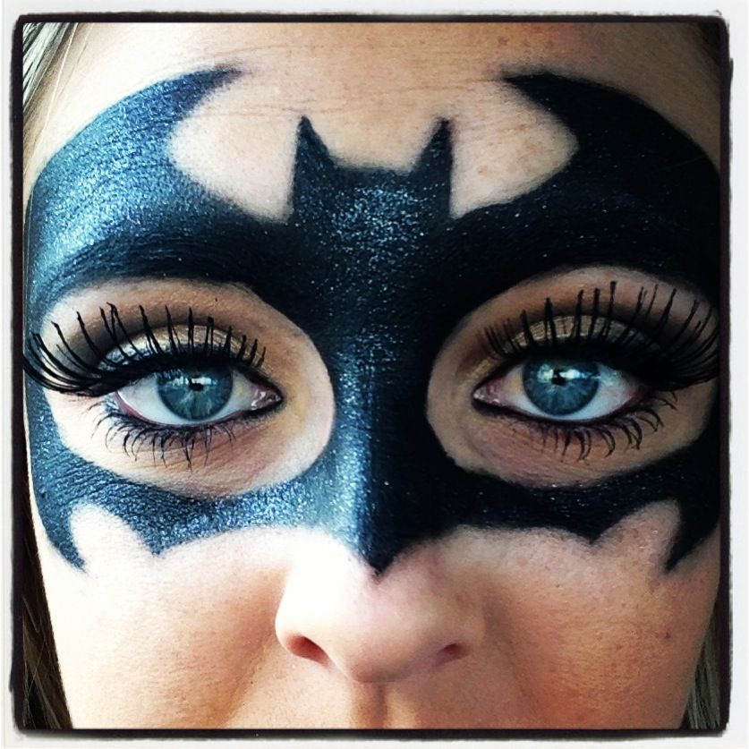 batman makeup diy pinterest batman makeup batman. Black Bedroom Furniture Sets. Home Design Ideas