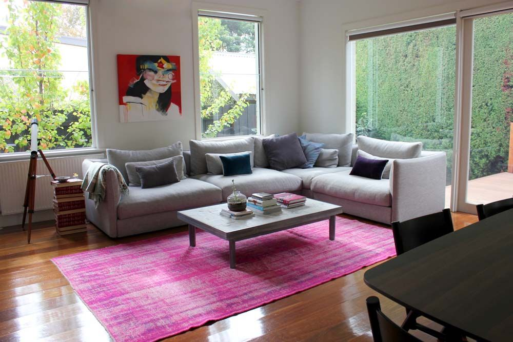 Love love love over-dyed rugs. Pink over-dyed rug from patchy rugs ...