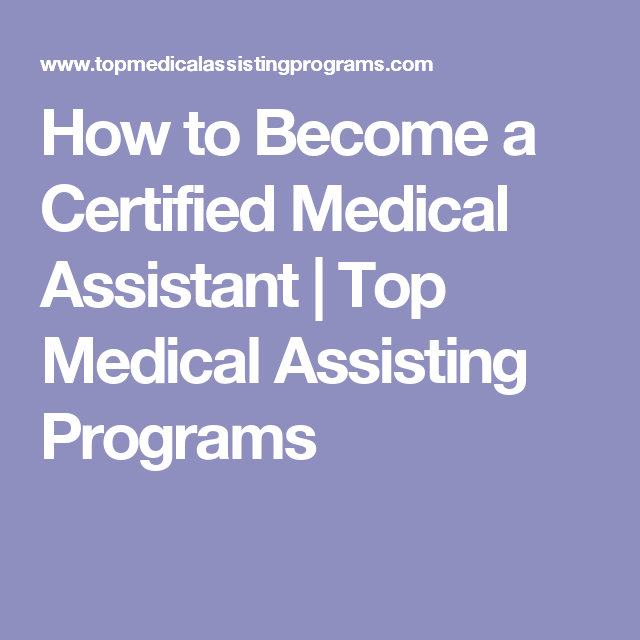 types of medical assistant certifications