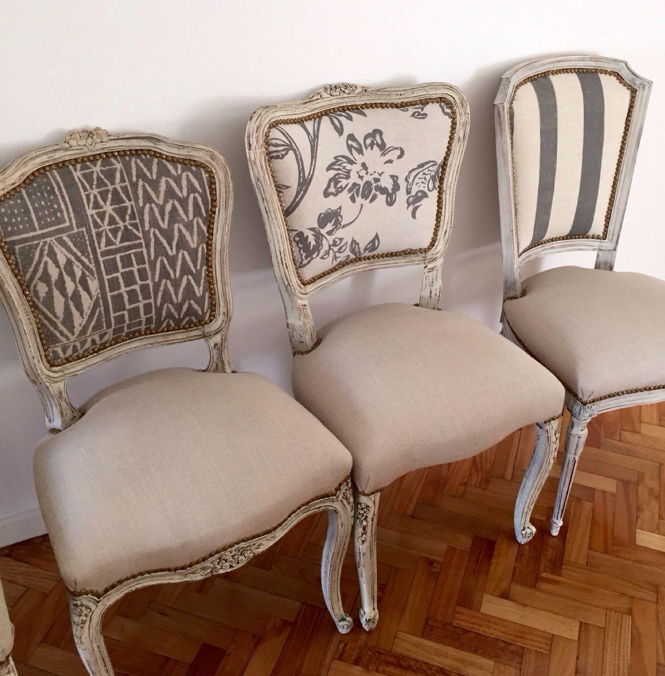 Sillas Francesas Chairs Pinterest Sillas Francesas  ~ Telas Para Tapizar Sillas De Comedor