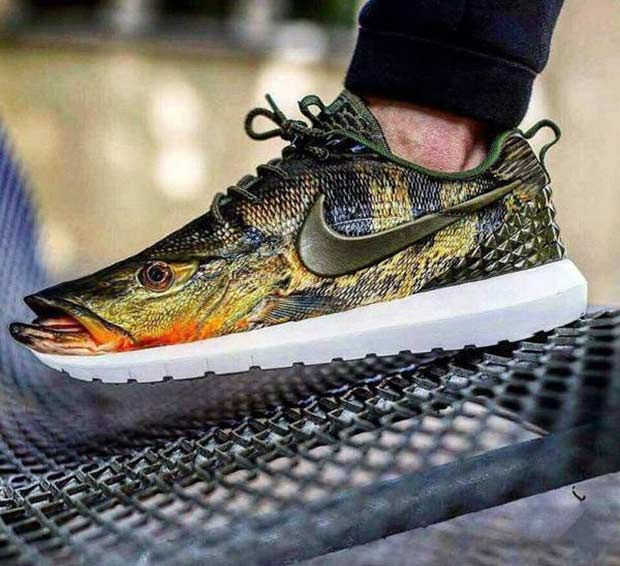 33 Funny Pics of Random Offbeat Weirdness ~ Nike fish shoe