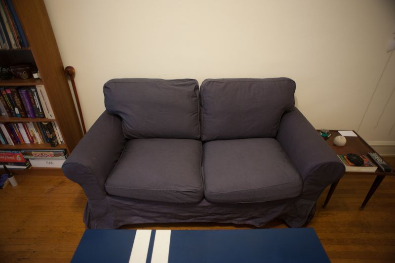 Completely considering dying my sofa to this awesome grey This - ikea ektorp gra