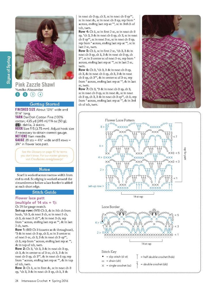Interweave Crochet Spring 2016 - 轻描淡写 - 轻描淡写 | Chal ...