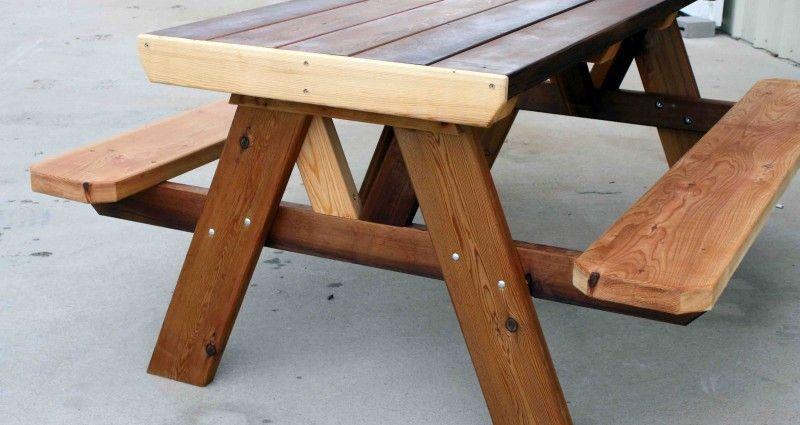 Affordable Wood Picnic Table With Separate Benches Label Wood Table With Images Patio Table Set Patio Table Plans Picnic Table