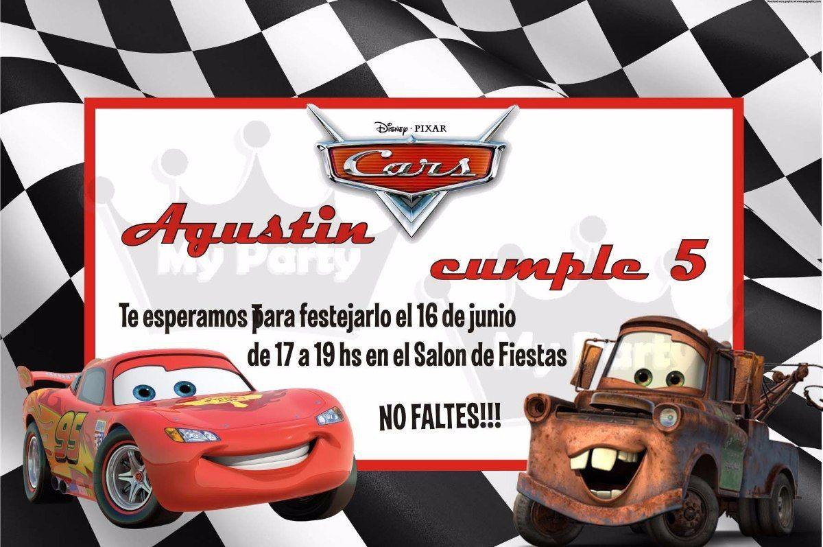Invitaciones Cumpleaños Cars Para Fondo De Pantalla En 4k 7