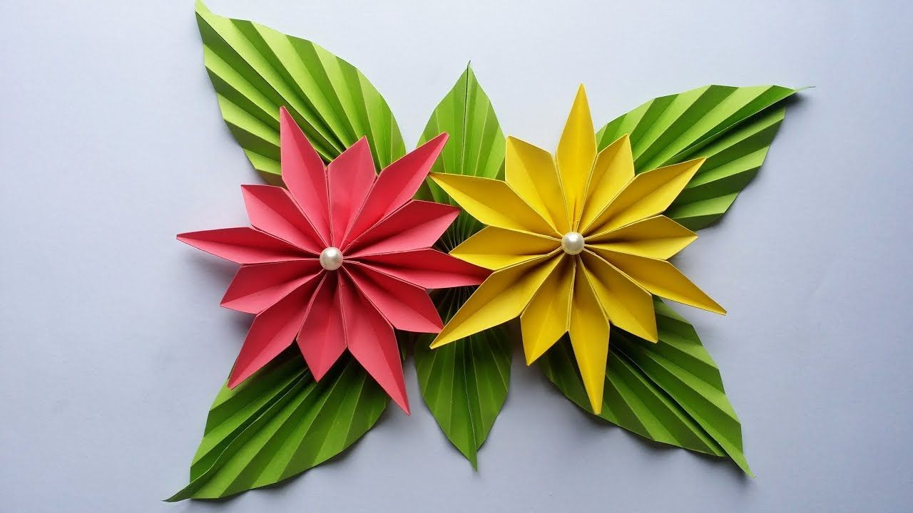 Diy how to make easy beautiful flower with colour paper easy diy how to make easy beautiful flower with colour paper easy tut izmirmasajfo