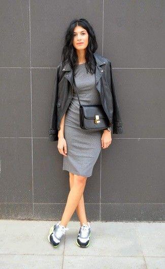 d50f010a2 Look de moda  Chaqueta motera de cuero negra