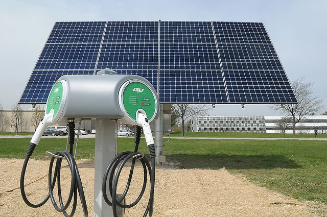 Solar Powered Electric Vehicle Charging Station Electric Vehicle Charging Station Electric Vehicle Charging Electric Cars