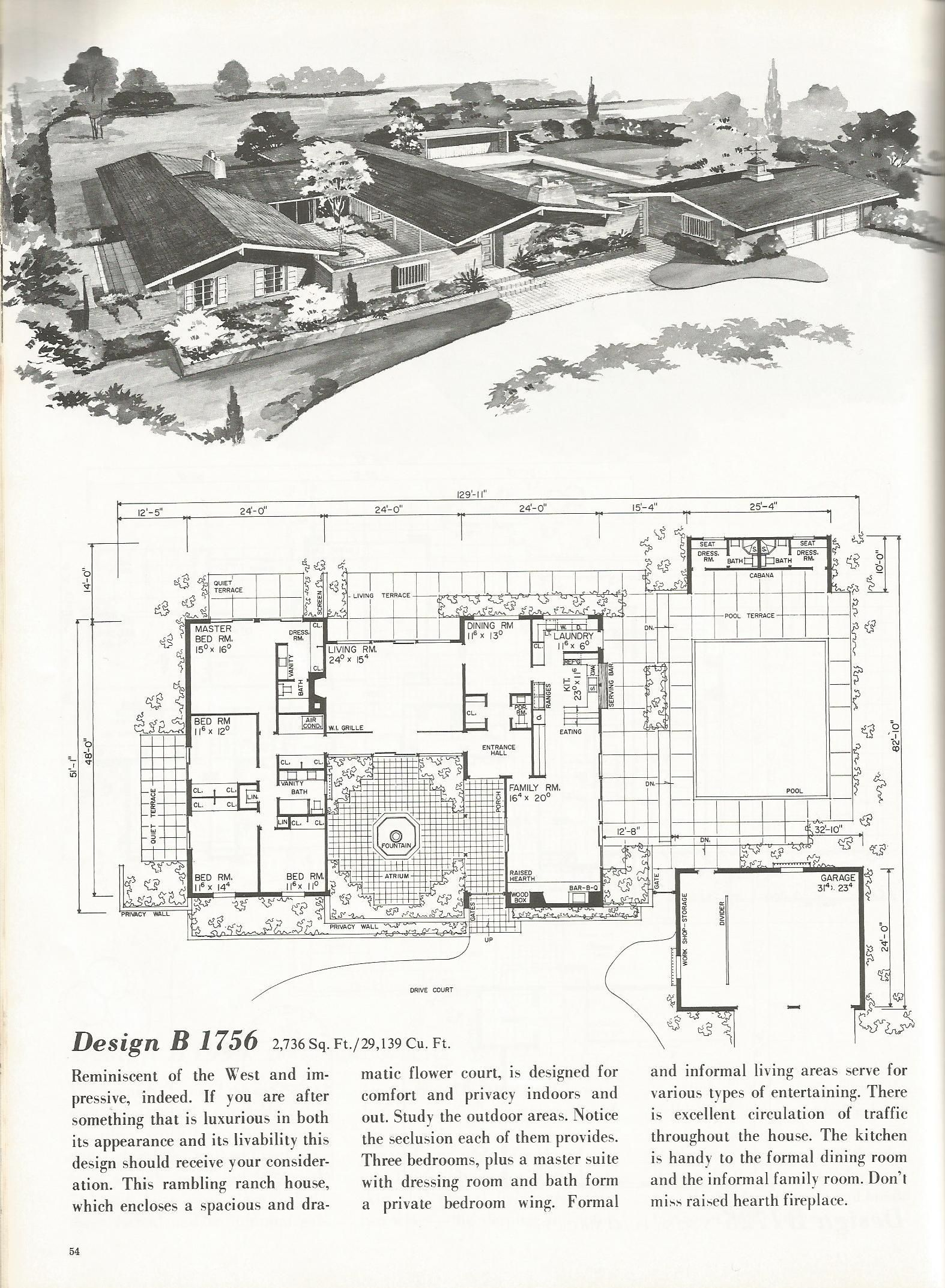 Vintage House Plans Western Ranch Houses Cool Pads