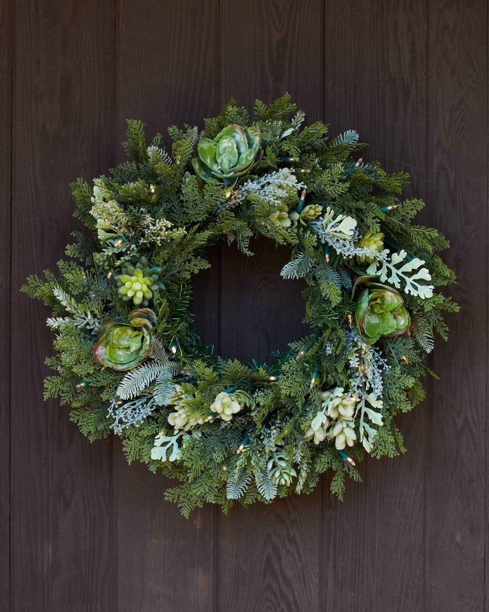 Winter Succulent Artificial Foliage | Balsam Hill