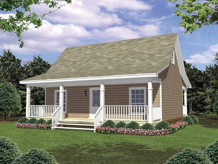 Love this simple house plan with both front and back porches