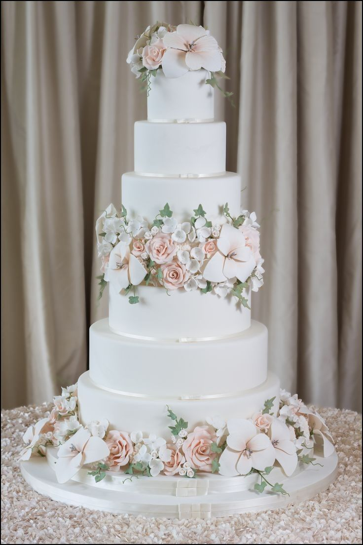 Six Tier Wedding Cakes Wedding Cake Fresh Flowers Tiered Wedding Cake Classic Wedding Cake
