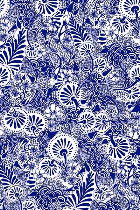 floral print in blue                                                       …
