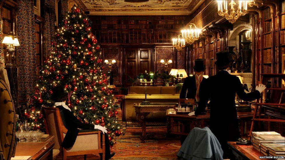 Chatsworth Library Christmas - Chatsworth House's Deck The Halls Chatsworth House Pinterest