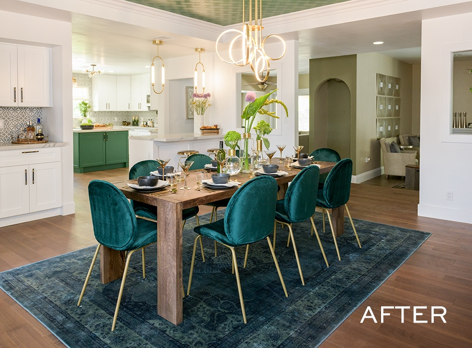 Kate Gavin The Scott Brothers Green Dining Chairs Log Home Kitchens Home