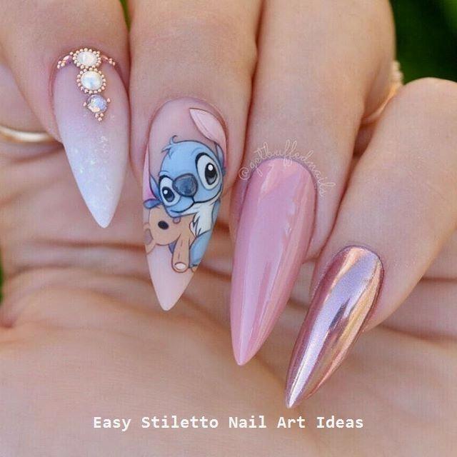 30 Grosse Stiletto Nail Art Design Ideen Nailart Nageldesing Nageldesing Acrylicnailstrends Disney Acrylic Nails Cute Nails Disney Nails
