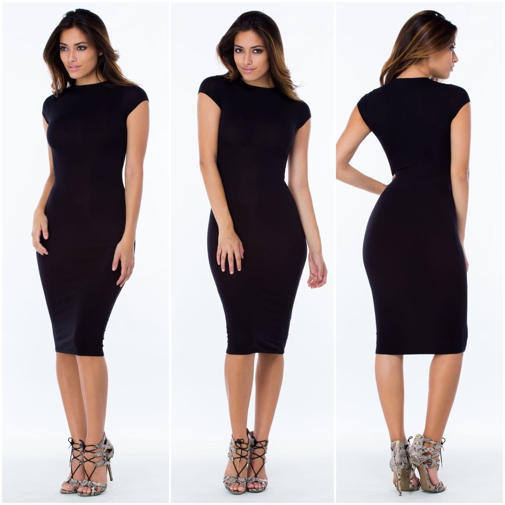 New Plus Size Sexy Every Occasion Black Bodycon Dress Size 3X ...