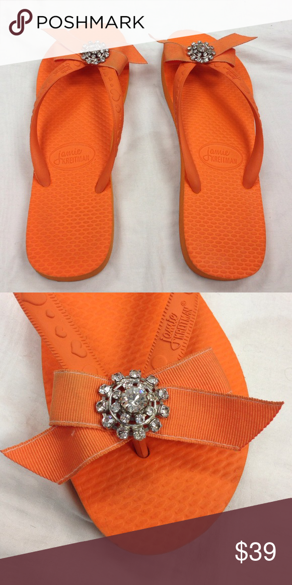 7c46d7a35174f5 ... Google Search san francisco c5c72 98d81  Jamie Kreitman flip flops SZ  Large Orange flip flops used in a boutique display.