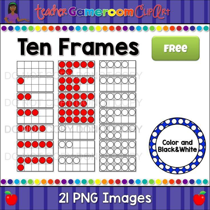 Ten Frames Clip Art Freebie | FOR TEACHERS | Pinterest