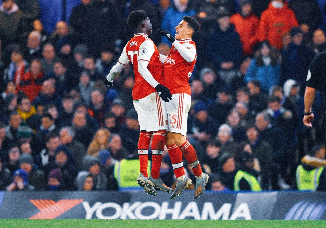 gabriel martinelli and bukayo saka