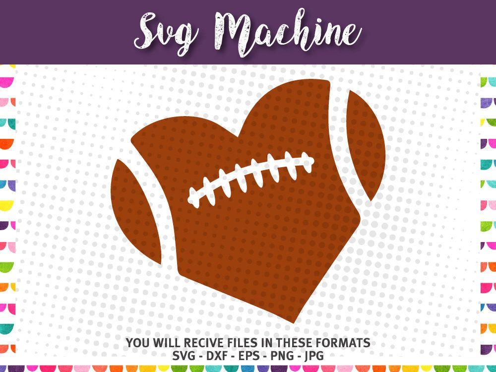Download Football Heart Football Love SVG | Etsy in 2020 | Card ...