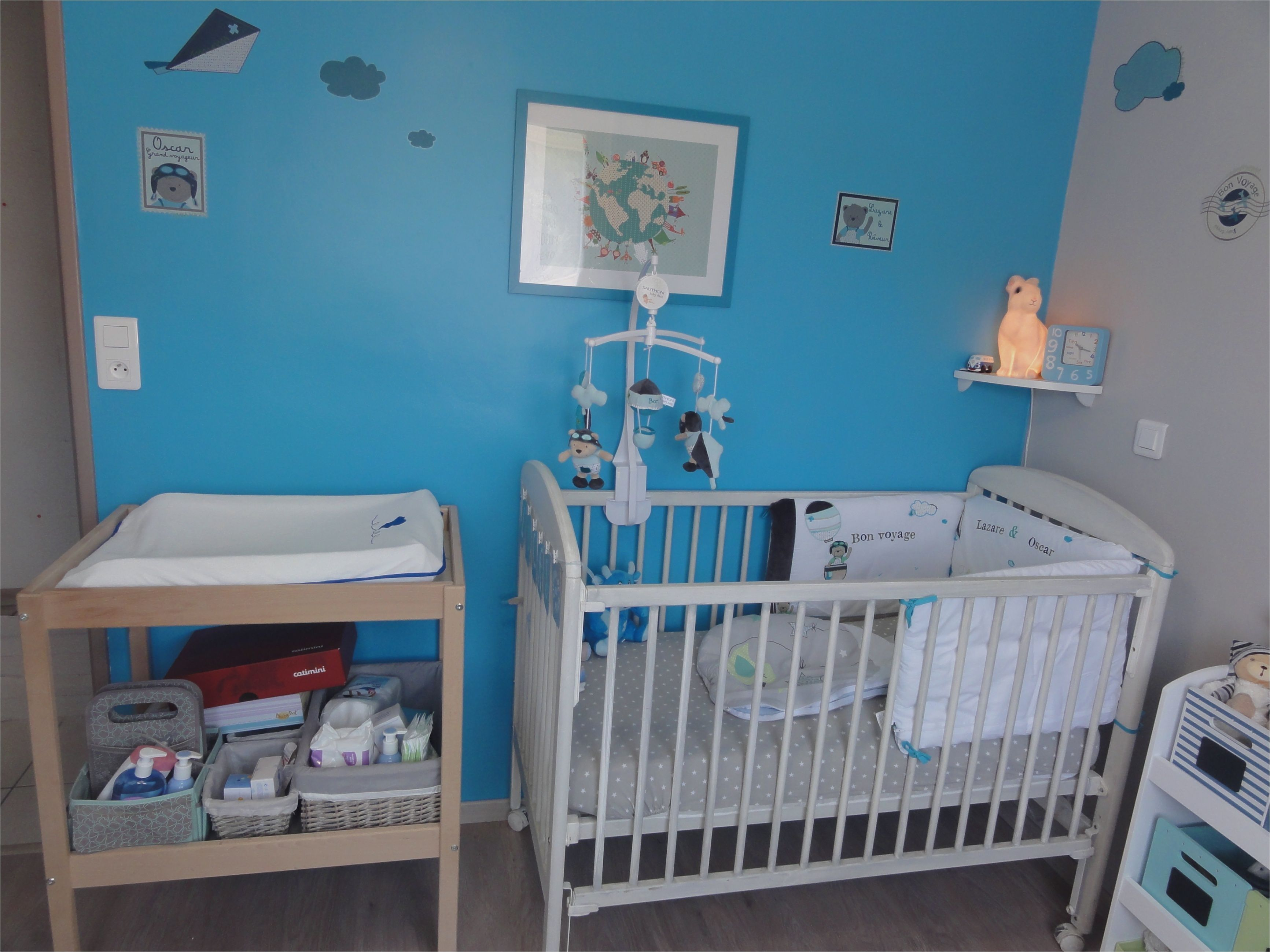 17 Deco Chambre Bebe Bleu  Thème chambre bébé, Chambre bébé