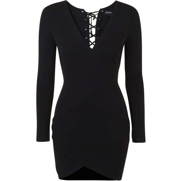 Lace Up Mini Dress By Kendall Kylie At Topshop 83 Liked On