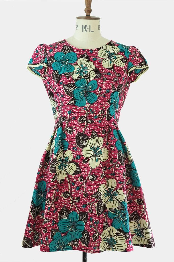 Jessie dress - floral print (Rowanjoy) – Godiva Boutique
