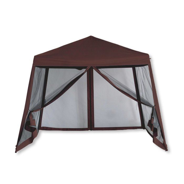 Luxury 10 Ft W X 10 Ft D Metal Pop Up Gazebo Gazebo