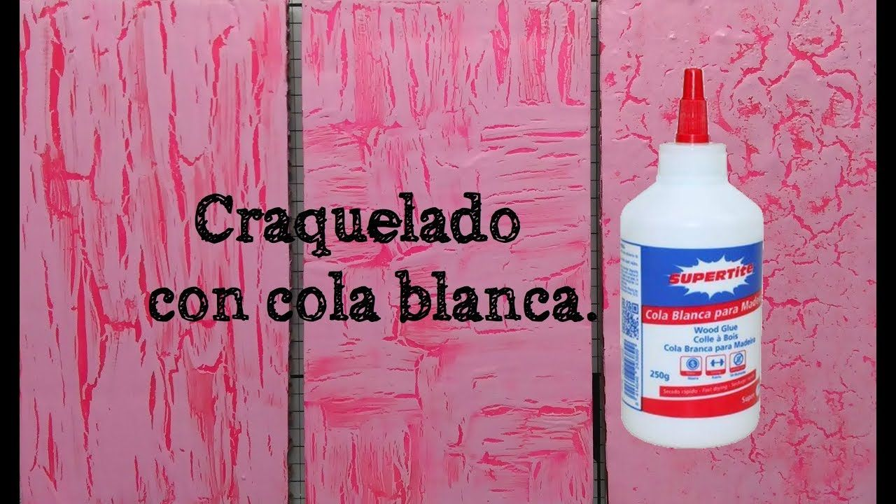 Craquelado Con Cola Blanca Craquelado Decoupage Paso A Paso Craquelar Madera