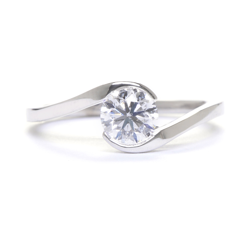 Sholdt Swirl Diamond Engagement Ring Greenwich Jewelers Weddings