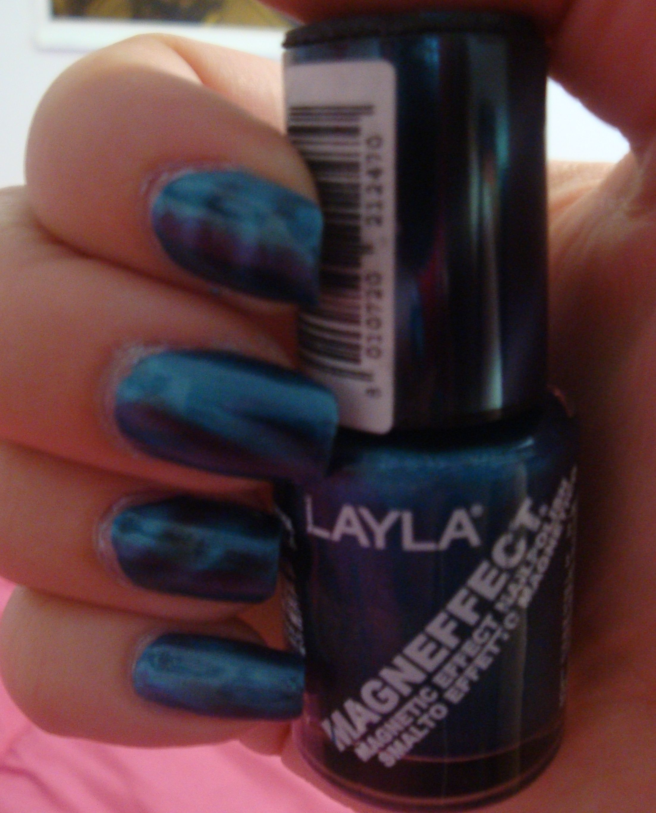 Try it on Tuesday: Layla Magneffect Metallic Sky | Magnetic nail ...