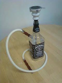 Homemade Jack Daniels Hookah Bongs De Vidro Garrafa De Jack