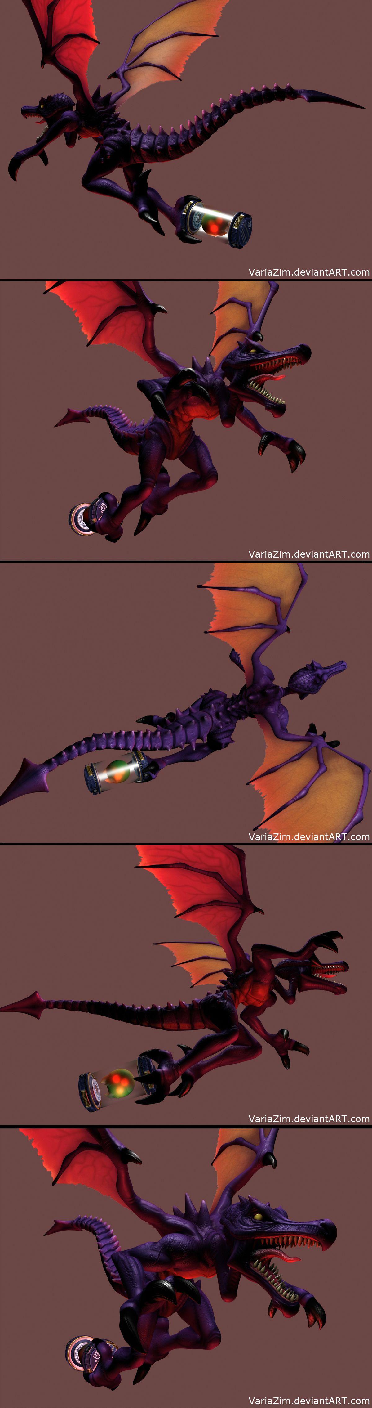 3D Model of Ridley via Reddit user PhazonZim Metroid