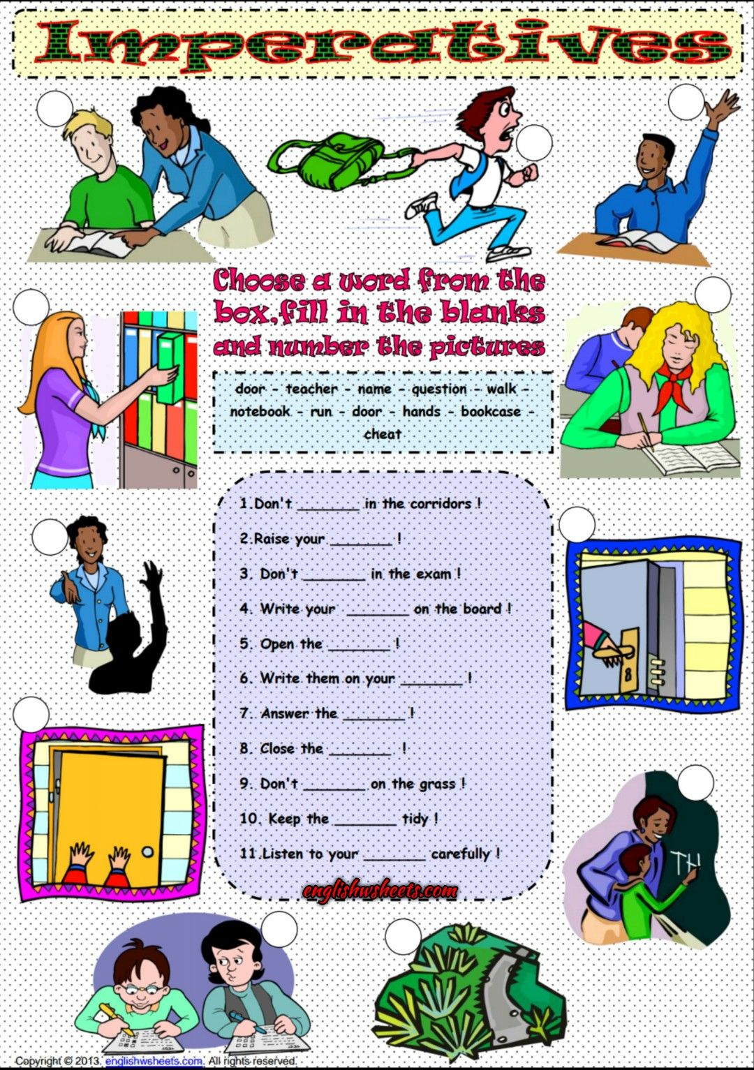 Imperative Mood Esl Grammar Exercises Worksheet Com