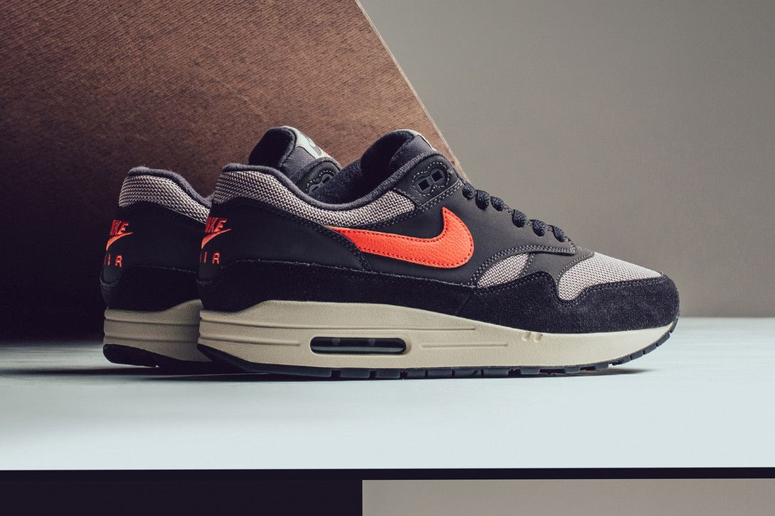 "best deals on good quality incredible prices Nike Combines ""Oil Grey"" & ""Wild Mango"" on the Air Max 1 ..."