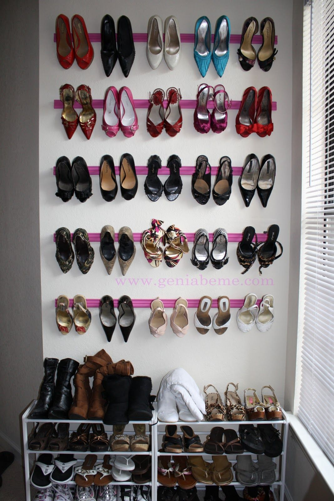 DIY shoe rack with crown molding I