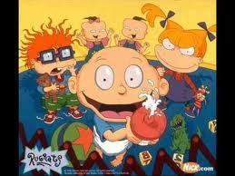 Rugrats - Tommy, Chuckie, Angelica, Phil, Phil's twim, Dill, and Susie