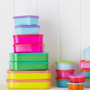 Multi-coloured Tupperware