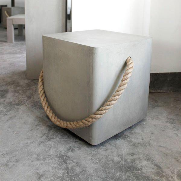 tabouret b ton 100 nature tout en courbe concrete cement pinterest inspiration. Black Bedroom Furniture Sets. Home Design Ideas