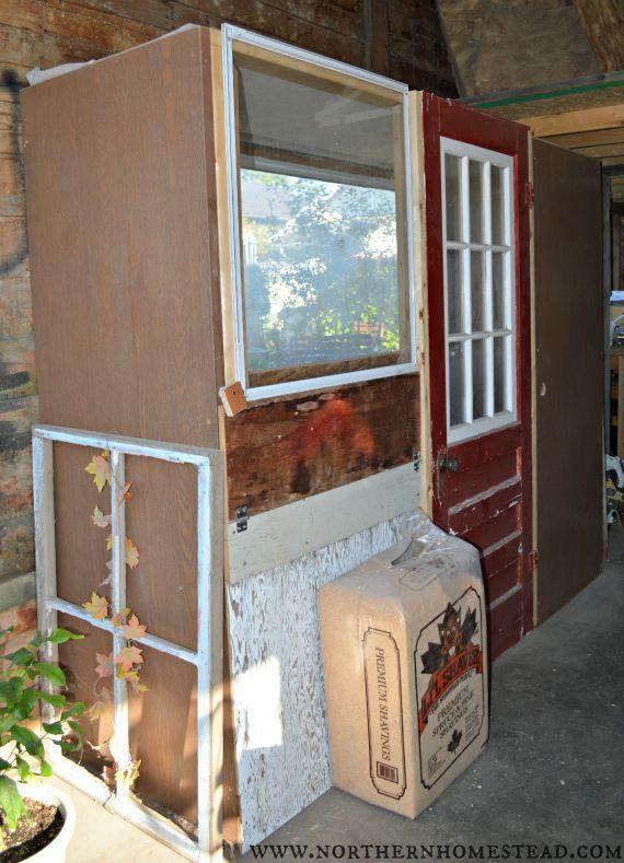 Free Chicken Coop From Recycled Doors Recycled Door Chicken Coop Backyard Farming